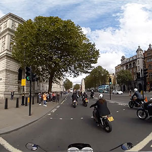 360 degrees image from a motorcycle
